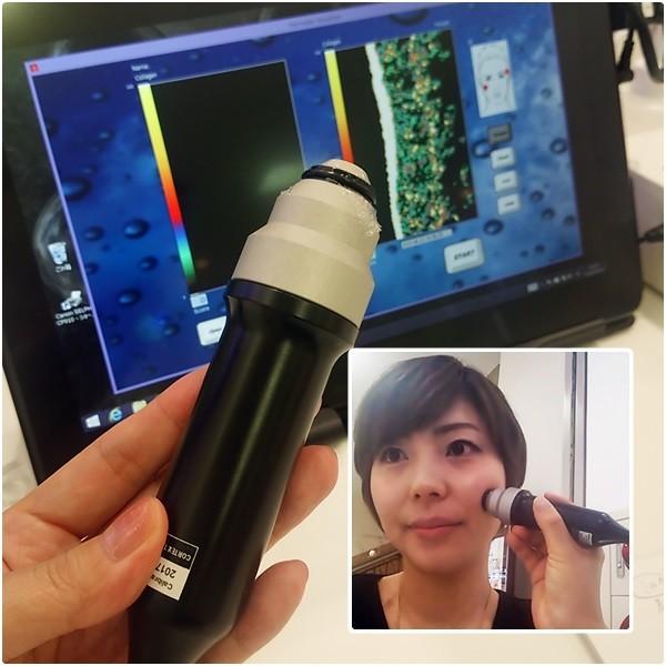 肌のコラーゲン密度測定!@新宿伊勢丹epistemeカウンター
