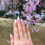 桜ネイル~大好きな枝垂れ桜に☆.。.:*・