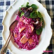 抗酸化作用で紫外線に負けない! 鮭と紫キャベツの南蛮漬けレシピ
