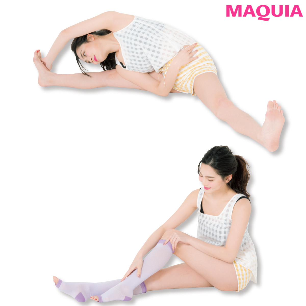 足首のスジ押しで脚ほっそり! マキアビューティズの脚ヤセテクを拝見