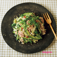 幸せホルモンを作る♡  「牛しゃぶと香味野菜の発芽玄米サラダ」