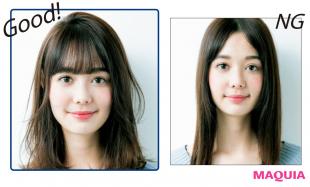 どんな髪型でも小顔になれる!「正方形バランス」にヘアチェンジ