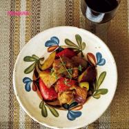 肌が内からプリッ! コラーゲンたっぷりレシピ~鶏肉とさつまいものドライトマト煮~