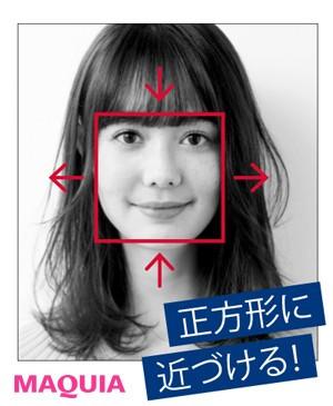 どんな髪型でも小顔になれる!「正方形バランス」にヘアチェンジ_1_2