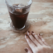 コーヒー色ネイル♥︎