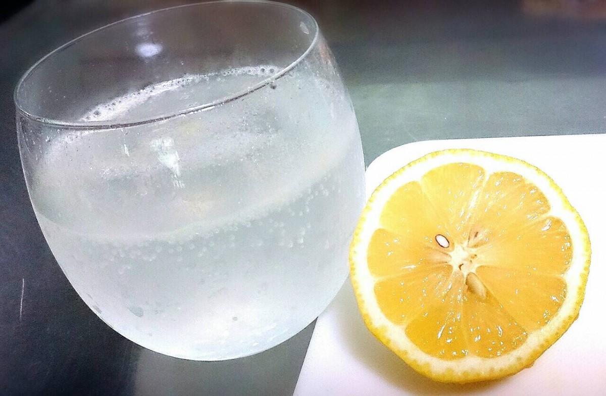 朝に…シュワシュワ*レモン水