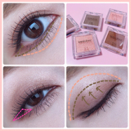 【innisfree 】MY PALETTE My Eyeshadow  韓国コスメ♡イニスフリー アイシャドウ ♡メイクプロセス画像