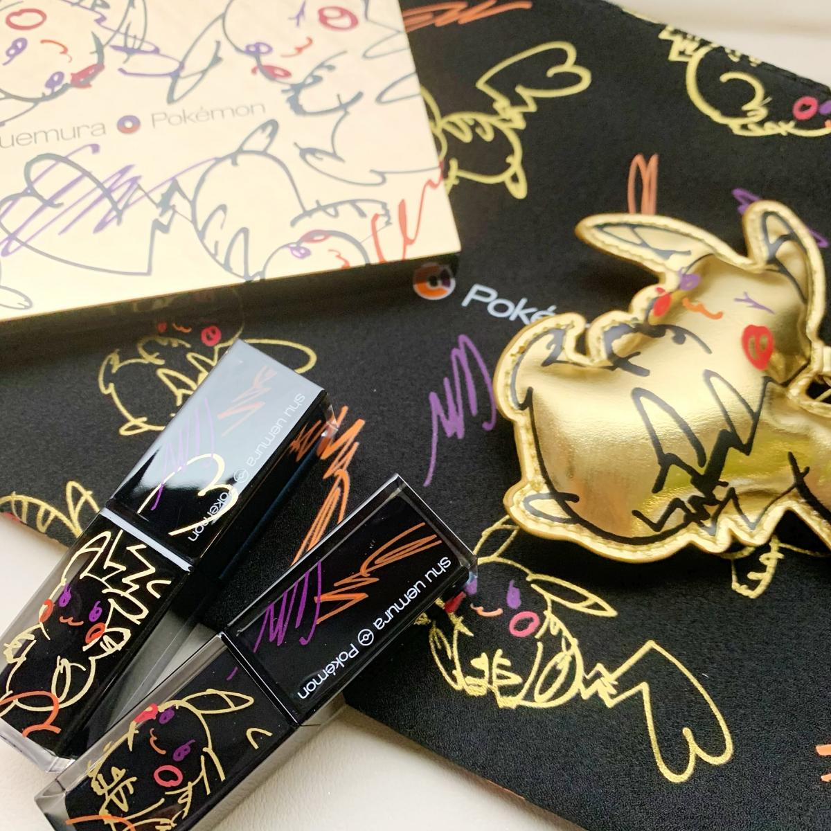 【クリスマスコフレ2019】メイクレシピあり♡︎ピカチュウ萌えコスメ《シュウ ウエムラ × ポケモン コレクション》♡︎
