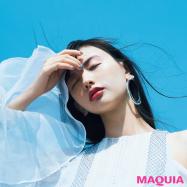 """鈴木えみさんの夏メイクは""""ラベンダー""""がキーカラー! 青空に映えるメイクセッション"""
