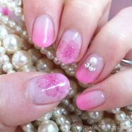 【ネイル動画】水彩画風「たらしこみネイル」で桜ネイル❤やり方解説♪セルフジェルネイル