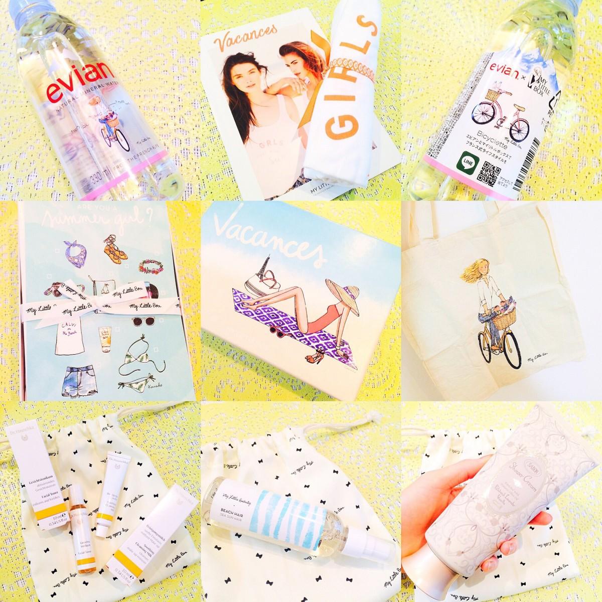 【My Little Box】今月はSABONの現品もIN♡夏のバカンスを楽しむためのエビアンコラボBOXの中身を公開