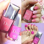 ディオール春限定ピンクネイル2色を塗り比べ♡