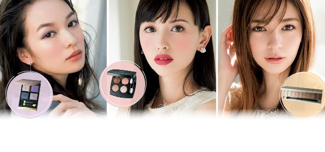 千吉良恵子さんが提案! 人気ブランドの新作パレットでつくる、春の顔。新しい表情をクリエイト