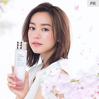 桐谷美玲さんの美を結ぶ、桜の化粧水