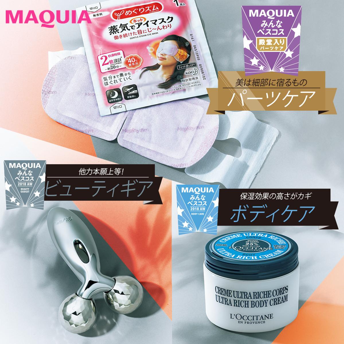 ¥570のプチプラも入選! 約10万人が選んだパーツ・ボディ・ビューティギアの名品
