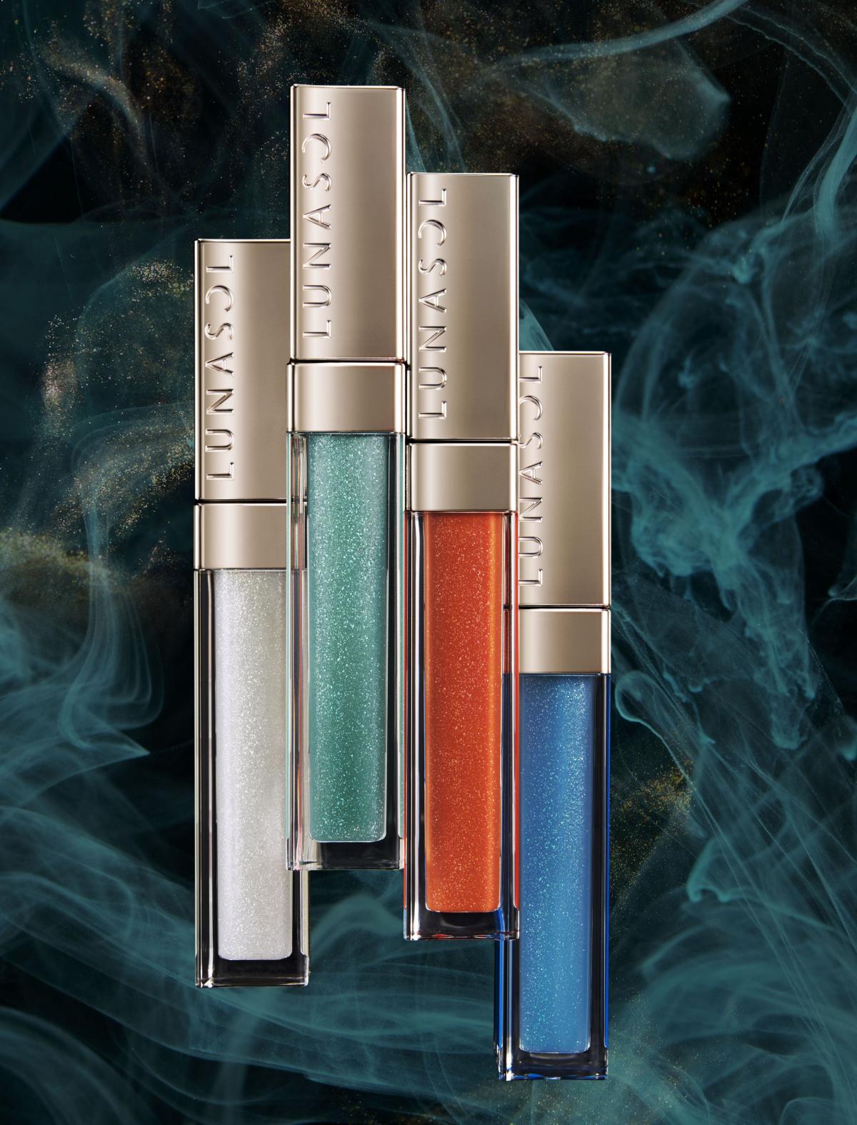 5月15日発売「ルナソル」から濃密なツヤのジェルオイルリップス11色が登場。繊細な輝きのアイカラーほか
