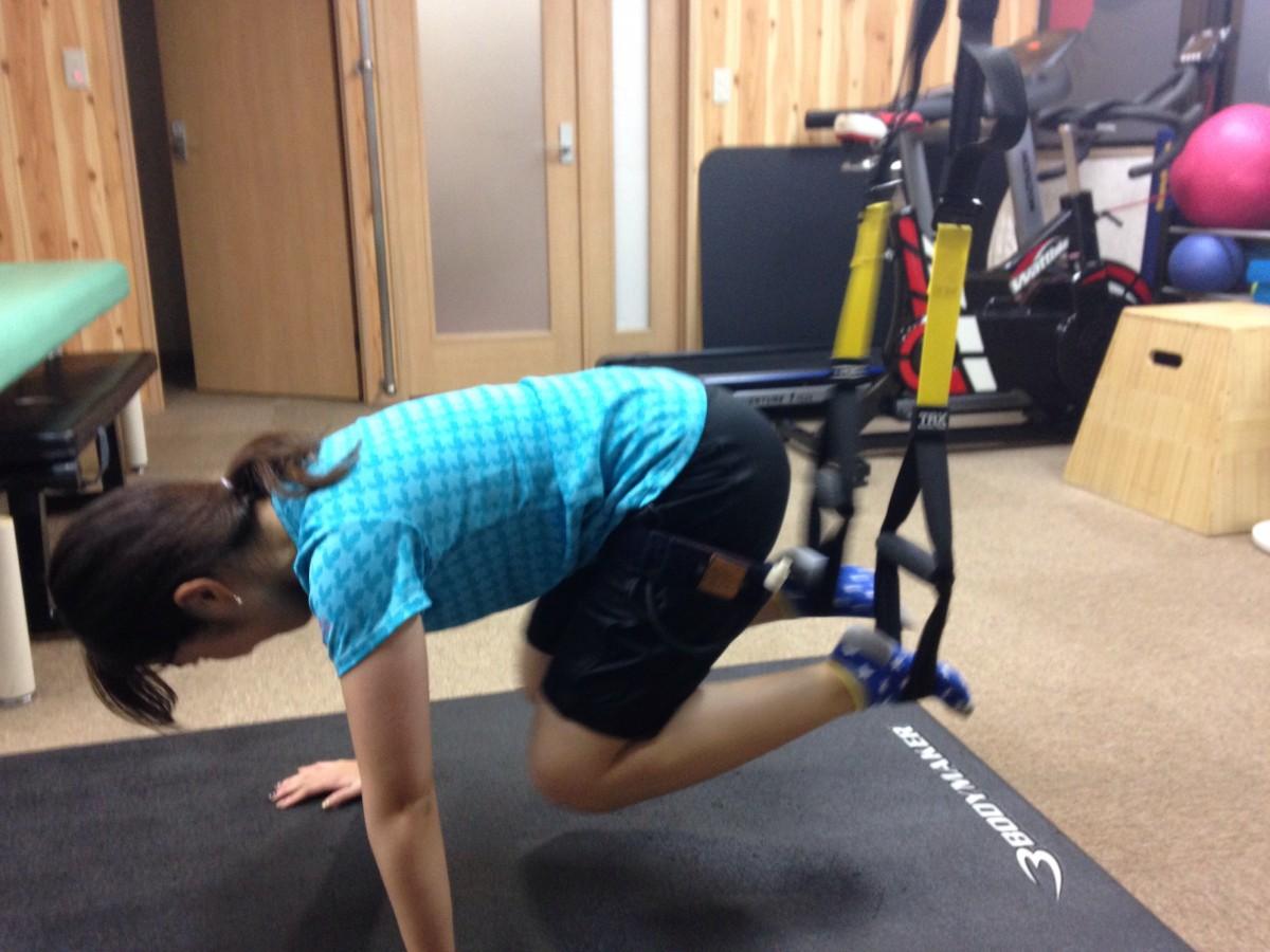 TRXで内腿を鍛える♡週1加圧トレーニングレポ