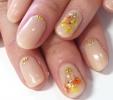 パーツを並べるだけで超簡単♡流行の花束ネイルに挑戦!