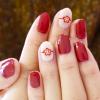 【冬ネイル】ホログラムを並べるだけ*赤のお花でお正月ネイル