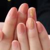 【秋ネイル】流行りのオーロラネイルは切って貼るだけの簡単ネイル♩