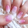 【セルフネイル動画】花びらネイル×たらしこみネイル❤ひとあじ違う桜ネイルのやり方❤