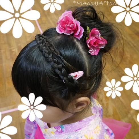 浴衣に合うヘアアレンジ♪子供の髪でアレンジ練習しちゃえ