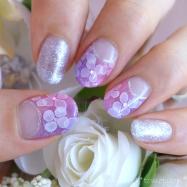 紫陽花ネイル❤たらしこみネイル×グラデーションで、涼しげ華やかに❤セルフジェルネイル