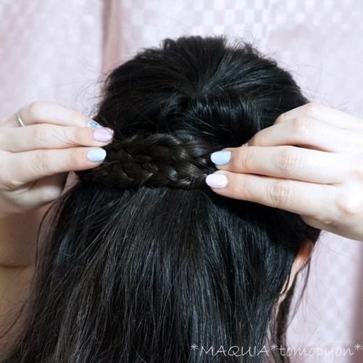 くるりんぱ&三つ編みだけ♪簡単!ハーフアップのお呼ばれヘアアレンジ♪