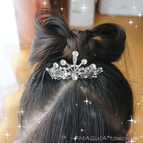 リボンヘアアレンジで、プリンセス気分★お誕生日のヘアアレンジ♪
