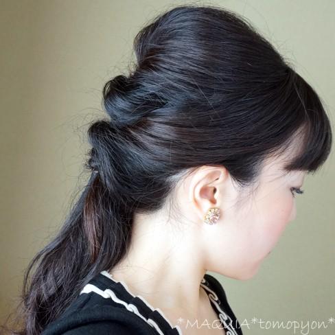くるりんぱ×3回だけ!!簡単なのに大人可愛いヘアアレンジ完成♪冬もまとめ髪でスッキリ可愛く❤