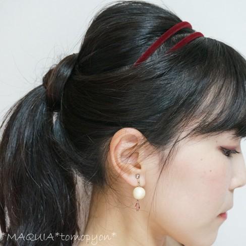 カチューシャを使ったポニーアレンジ★MAQUIA10月号「RUMI流ヘアアレンジ」にチャレンジ!