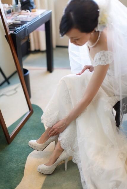 ♥︎ペディキュアも花嫁気分を忘れずに♥︎