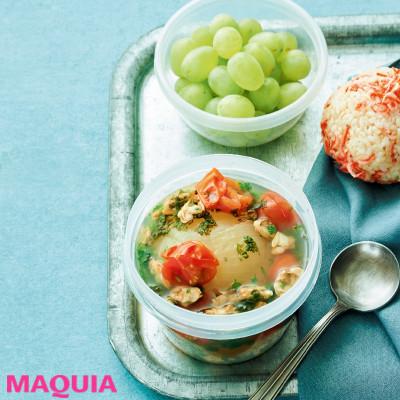 【ダイエットにもおすすめの食事やメニューは? Atsushi流レシピ】_丸ごと玉ねぎとあさりのスープと干しエビ玄米おにぎり