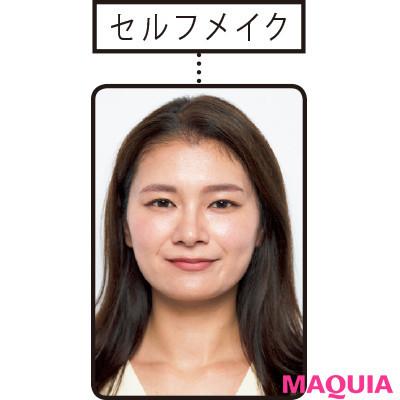 【長井かおりさんのメイクテク | アイシャドウ、チーク、リキッドファンデーションの使い方】加工アプリ級メイクで小顔に! えらの存在感を薄くするメイクテク_1