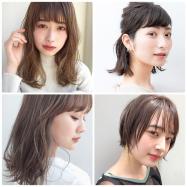 【ヘアカタログ】前髪ありのおすすめヘアスタイル・ヘアアレンジまとめ | ロング・ミディアム・ボブ・ショート 髪型別