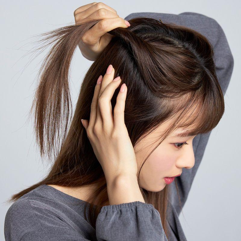 【ヘアカタログ | 髪型別・前髪ありのおすすめヘアアレンジまとめ】新生・三角ハーフアップ_3