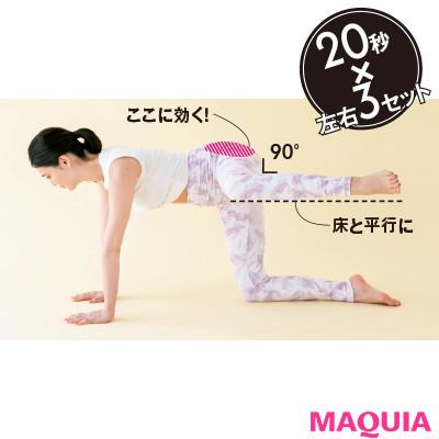 【本気で痩せたいあなたに】お尻を立体的にする「よつんばいトレ」2