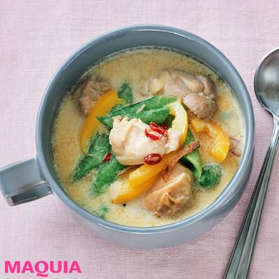 【ダイエットにもおすすめの食事やメニューは? Atsushi流レシピ】_良質のたんぱく質が補える「鶏肉と豆乳のエスニックスープ」