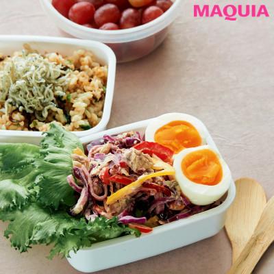 【ダイエットにもおすすめの食事やメニューは? Atsushi流レシピ】_サバ缶サラダとじゃこねぎ玄米ごはん
