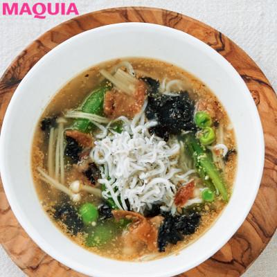 【ダイエットにもおすすめの食事やメニューは? Atsushi流レシピ】_さっぱりと優しい落ち着く味「しらすと梅のスープ」