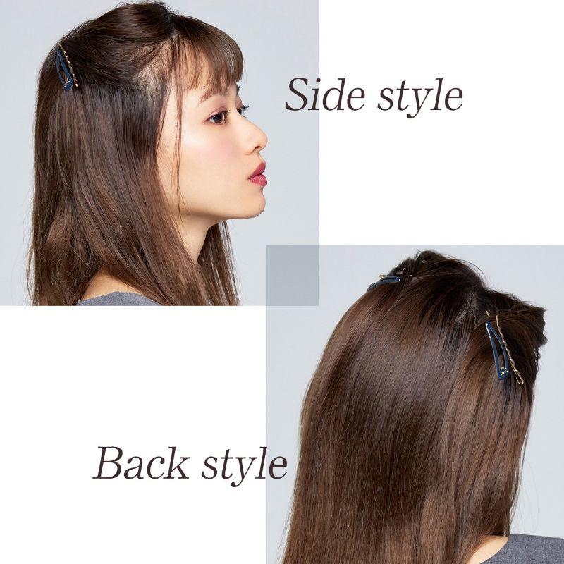 【ヘアカタログ | 髪型別・前髪ありのおすすめヘアアレンジまとめ】新生・三角ハーフアップ_5
