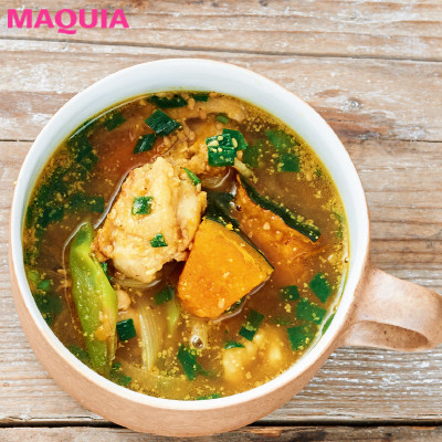 【ダイエットにもおすすめの食事やメニューは? Atsushi流レシピ】_温め食材たっぷりで代謝が上がる「和風カレースープ」