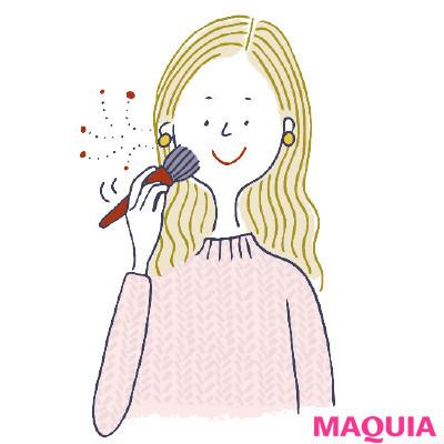 【花粉対策 | メイクの上から使えるスプレーなどおすすめアイテムまとめ】Q 花粉などが付着している肌のメイク直しはどうすれば?_
