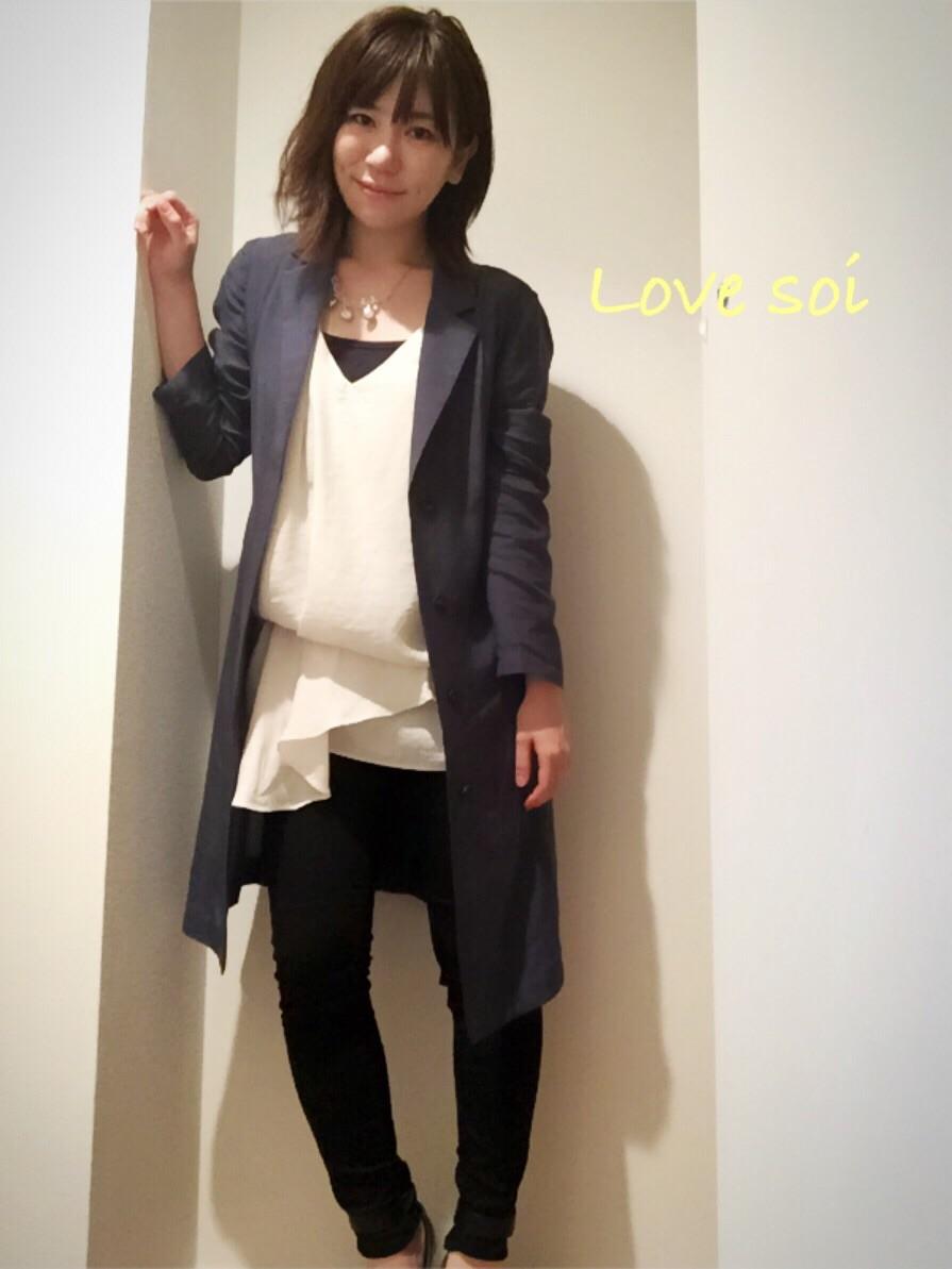 outfit(よもぎ蒸しを初体験☆)