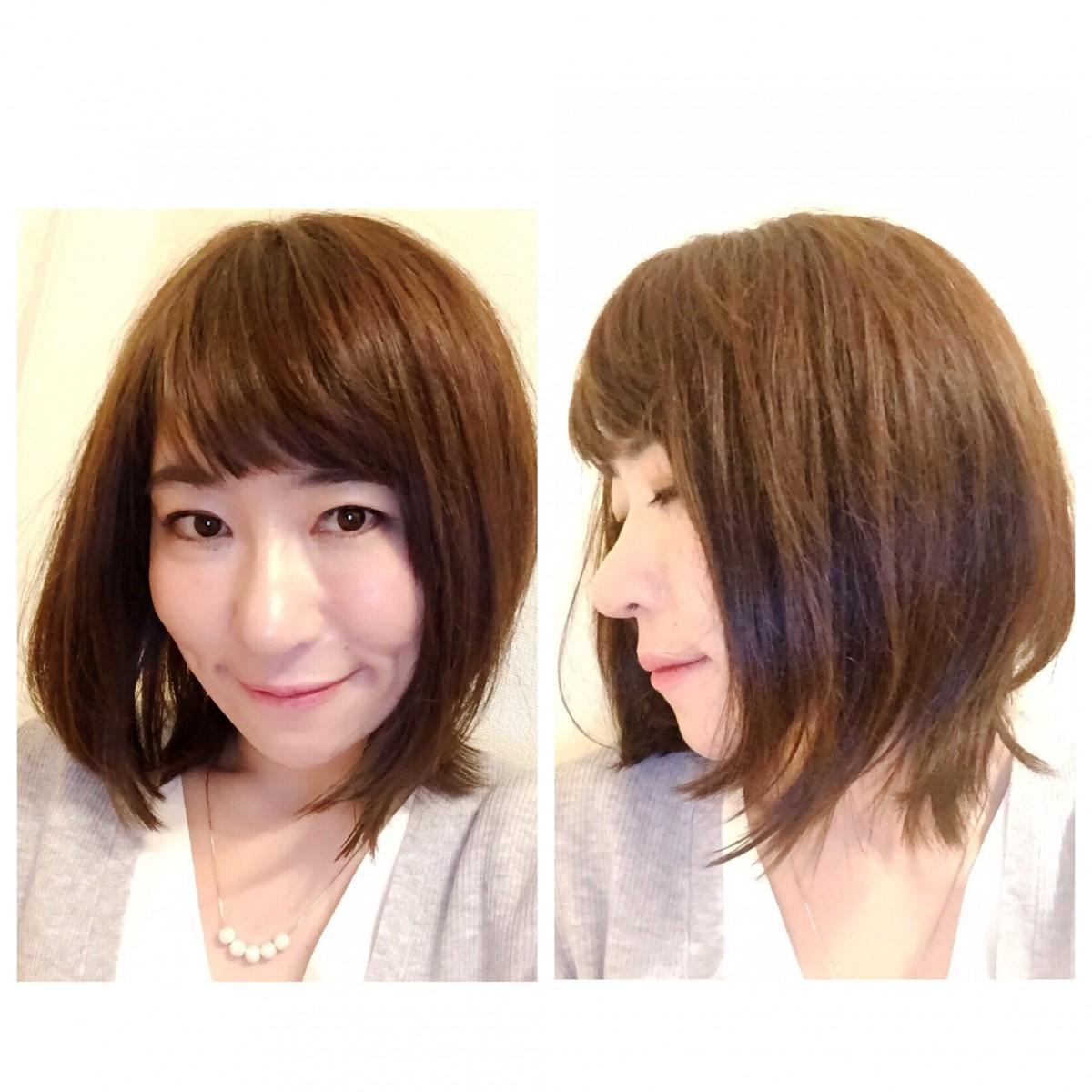 New Hair Style!!ロブヘアで伸ばしかけの髪を楽しむ☆