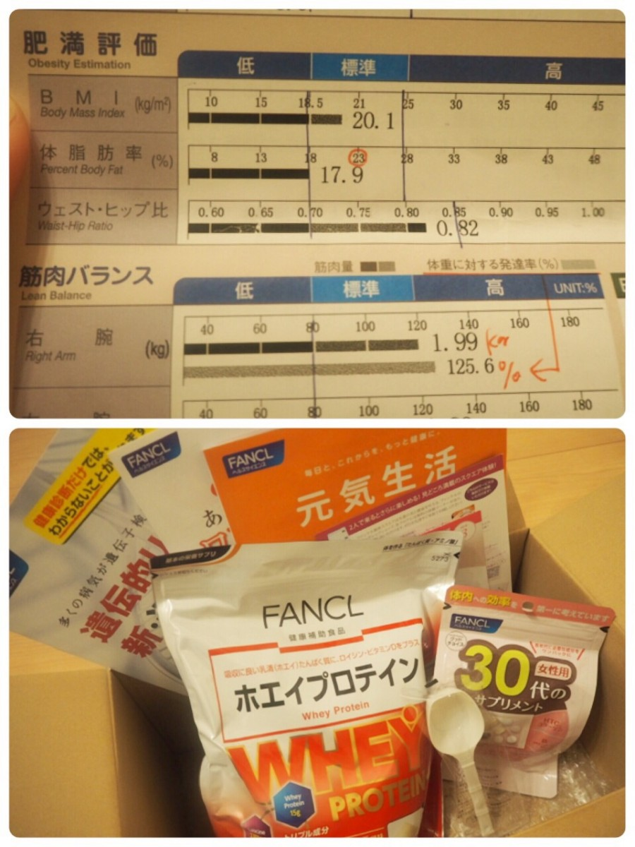 FANCL銀座で体組成測定!!気になる体脂肪、むくみ度、くびれ度は!?