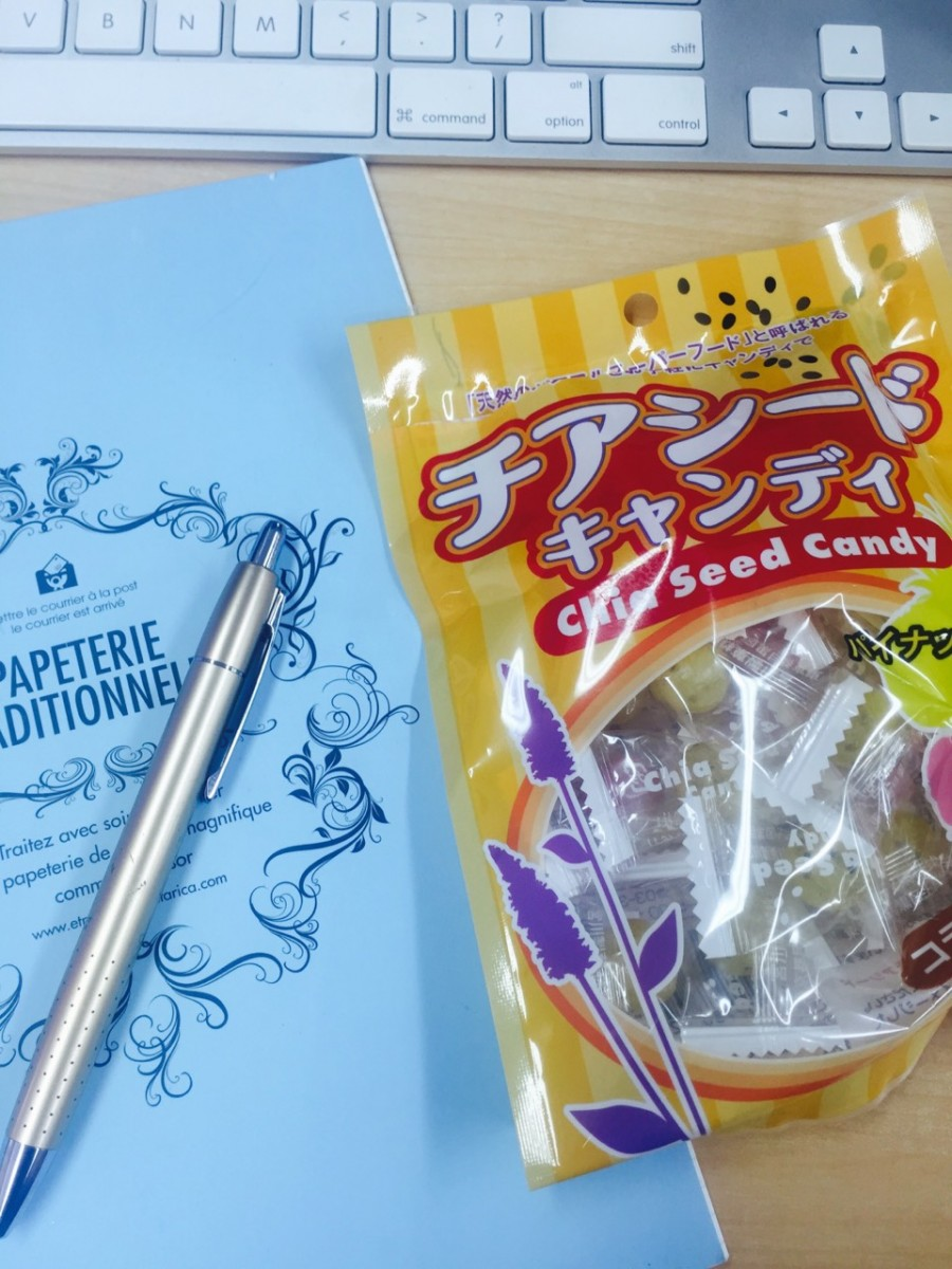 仕事中でもダイエット♡チアシードキャンディー