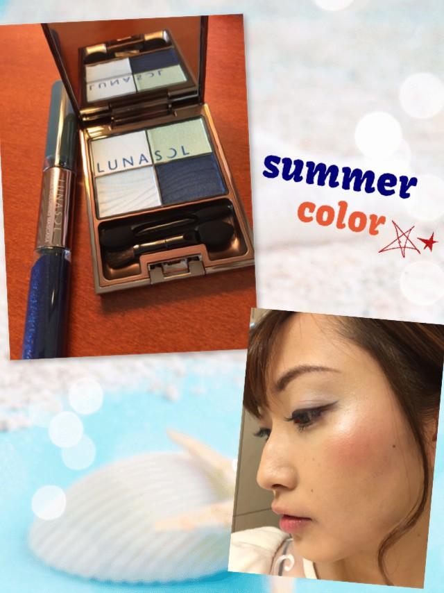 挑戦しやすい夏カラーコスメはコレ!!Part1♥ルナソルの限定色♥
