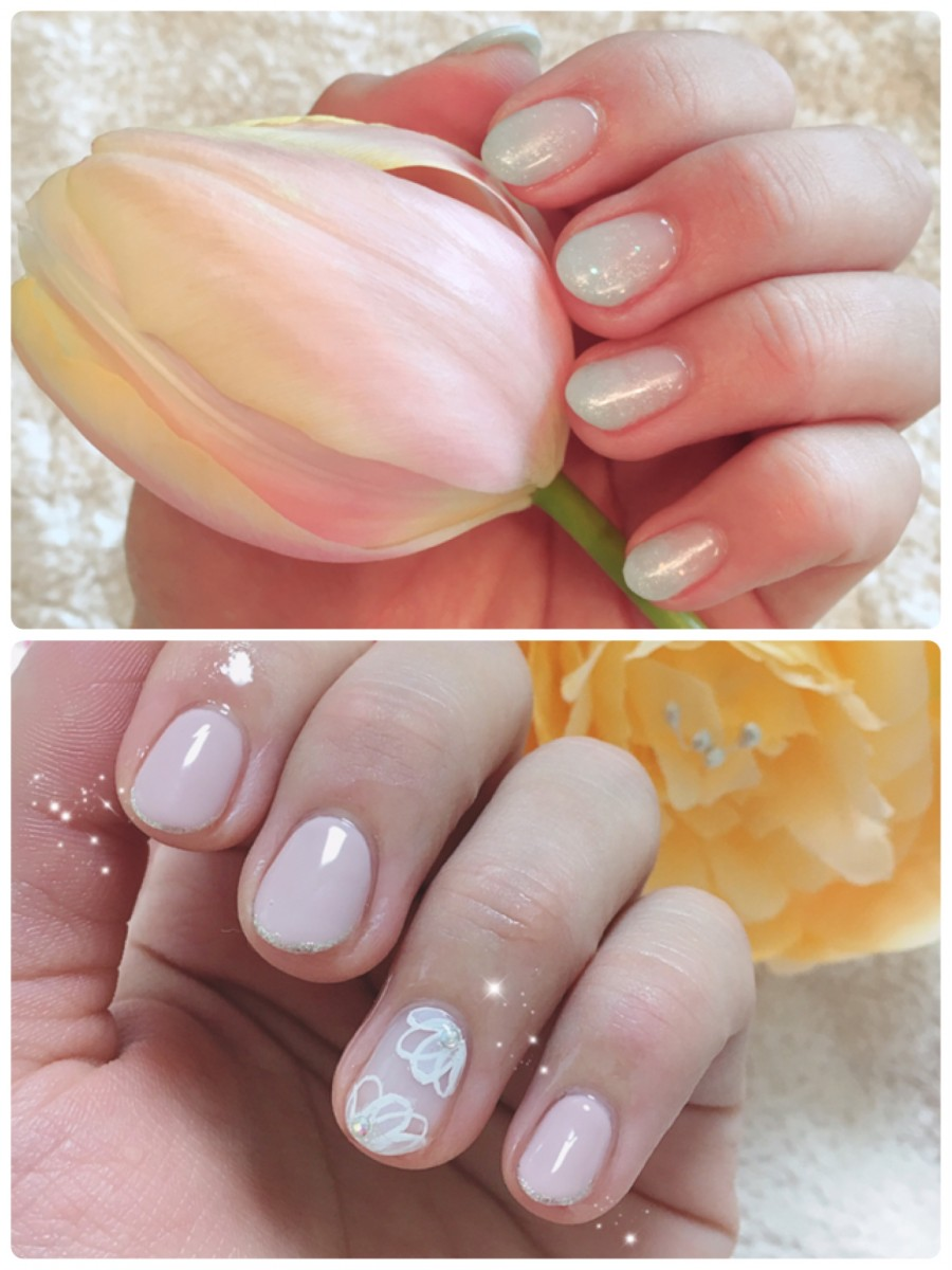 【春ネイル】淡いカラーの指先で好印象なスタートを♡