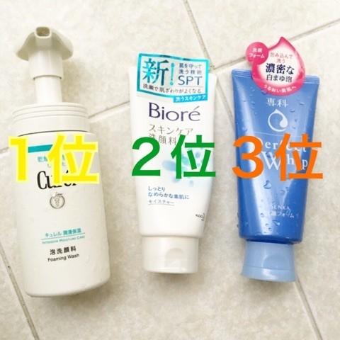 【プチプラ】敏感&ゆらぎ肌な私的おすすめランキング!洗顔Best3♪
